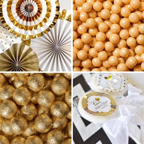 Gold Candy Buffet Color Scheme