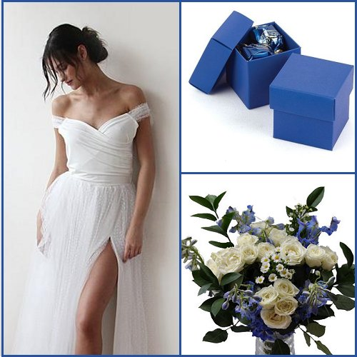 Blue and Silver Wedding Color Scheme