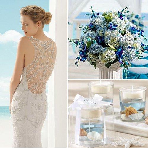 Blue and Dreamy Beach Wedding Theme