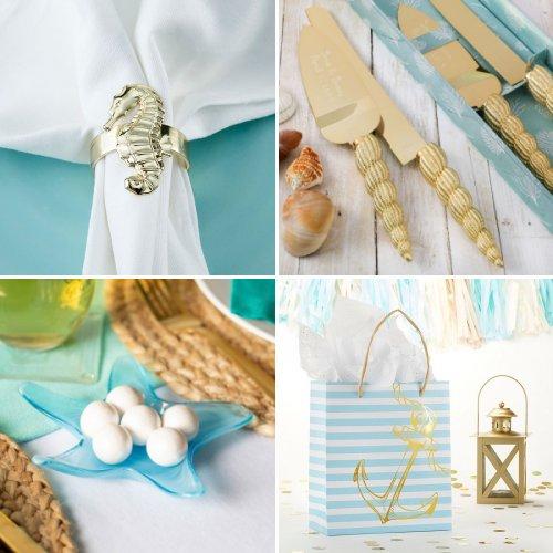 Ocean Blue Wedding Favors and Decor Ideas