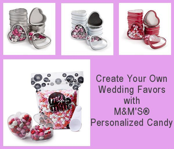 Create your own wedding favors with M&M'S personalized candy