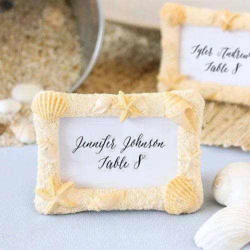 Beach Themed Place Card Holder/Frame Wedding Favours