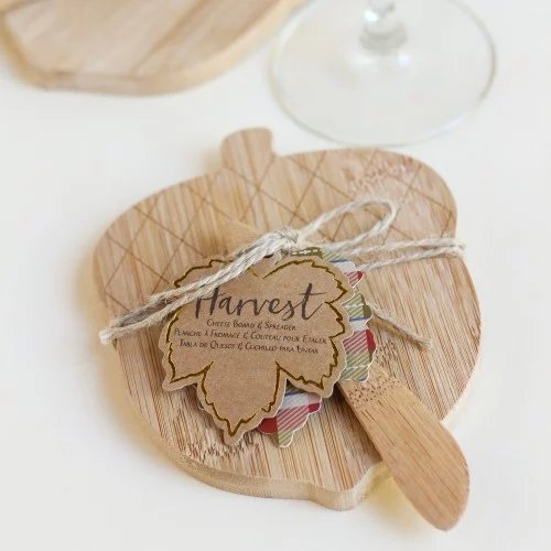 Acorn Shaped Cheeseboard and Spreader Wedding Favours