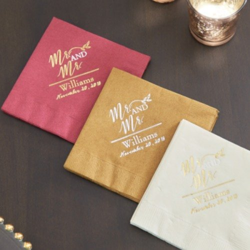 Personalized Exclusive Wedding Napkins Wedding Favours