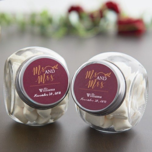 Personalized Wedding Themed Candy Jars Wedding Favours