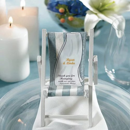 Folding Beach Chair Place Card Holders Wedding Favours