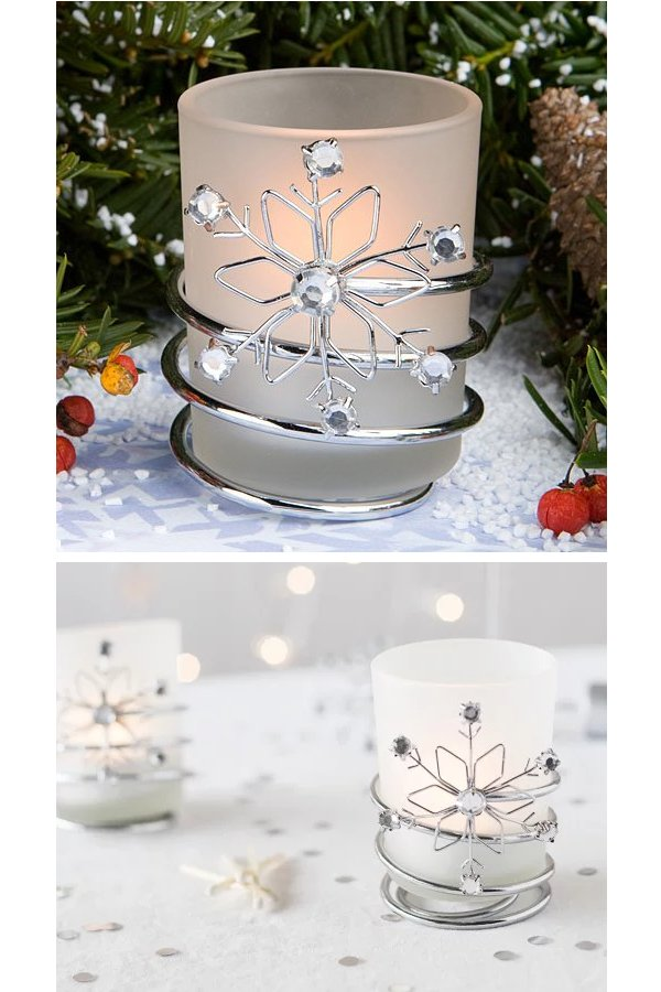 Snowflake Votive Holders Wedding Favors
