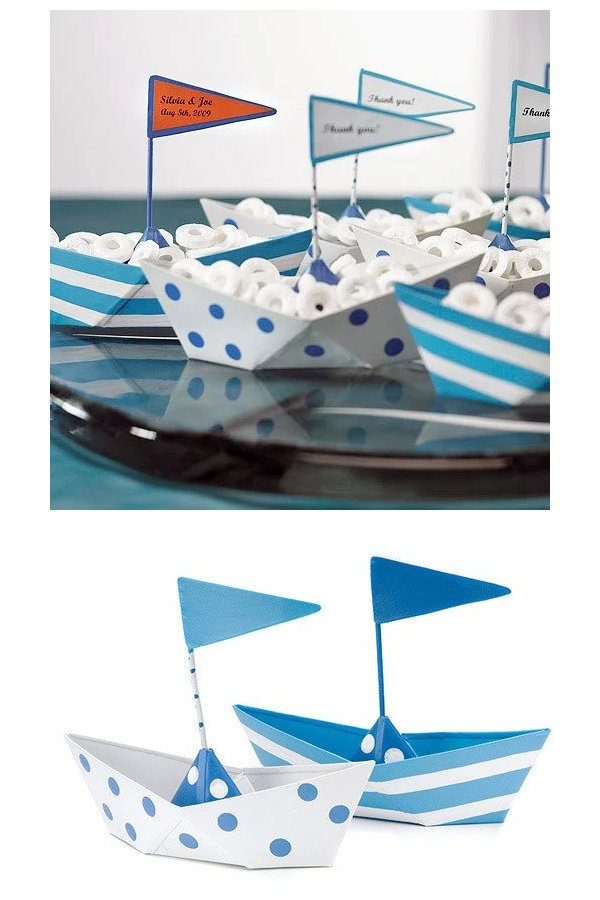 Mini Metal Sailboats Wedding Favours