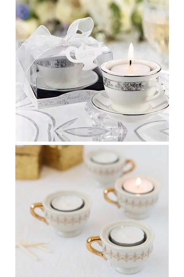 SMini Teacup Tealight Holder Wedding Favours