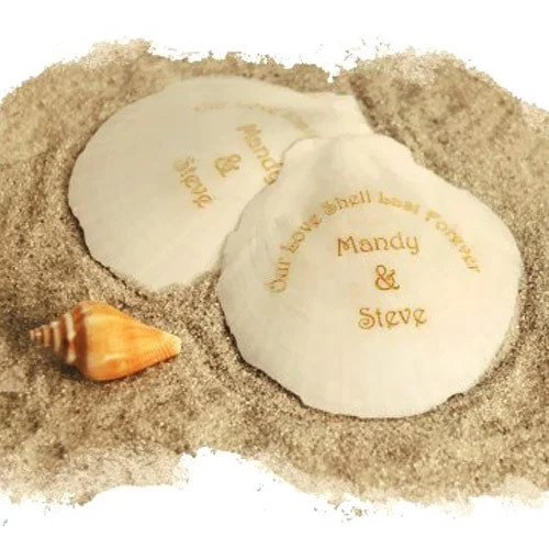 Personalized Seashells Wedding Favours