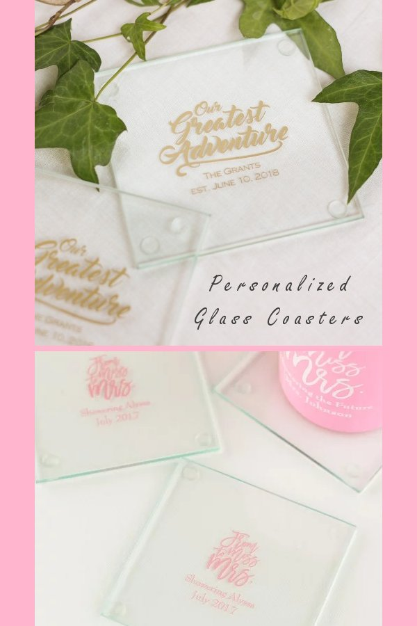 Personalized Glass Coaster Wedding Favours