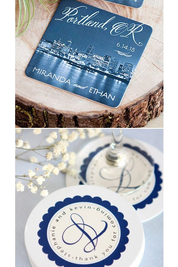 Personalized Wedding Favour Coasters