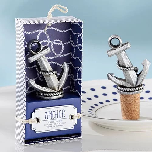 Anchor Bottle Stopper Wedding Favours