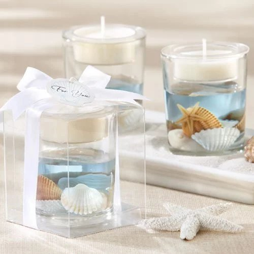 Seashell Gel Tea Light Holder Wedding Favours