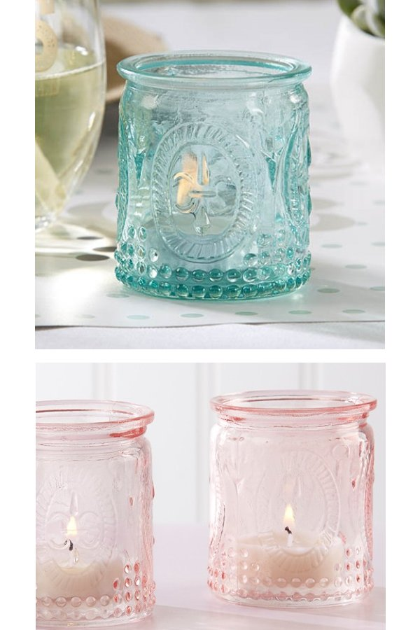 Vintage Glass Tealight Holder Wedding Favors