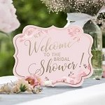 Bachelorette Party - Pink & Gold Bridal Shower Signs