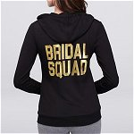 Bachelorette Party - Bridal Squad Zip-Up Hoodie