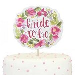 Bachelorette Party - Floral Bride to Be Cake Topper