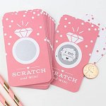 Bachelorette Party - Wedding Ring Scratch Cards Game