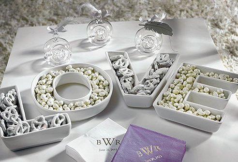 Wedding Candy Buffet Containers and Vases