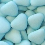 Wedding Candy Buffet Blue Confetti Hearts