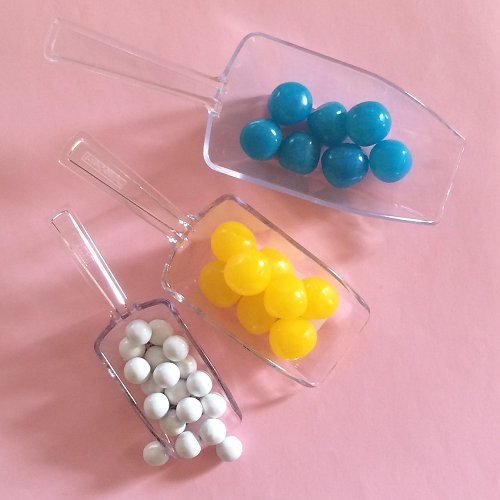 Wedding Candy Buffet Clear Plastic Candy Scoops