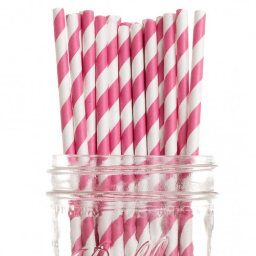 Candy Buffet Vintage Paper Drinking Straws
