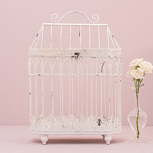 Wedding Reception Conservatory Style Round Birdcage Centrepieces
