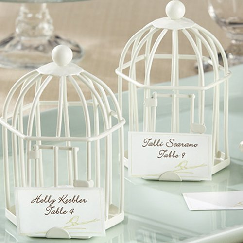 Wedding Reception Rustic Birdcage Place Card Tea Light Holder
