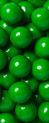 View green coloured candies