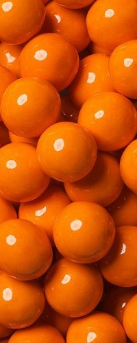 View orange coloured candies