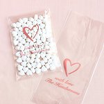 Wedding Favour Personalized Wedding Cellophane Bags