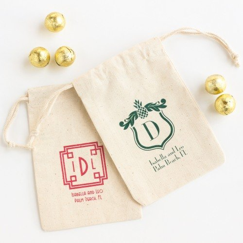 Wedding Favour Personalized Natural Cotton Bags