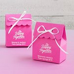 Wedding Favour Personalized Scalloped Favor Box