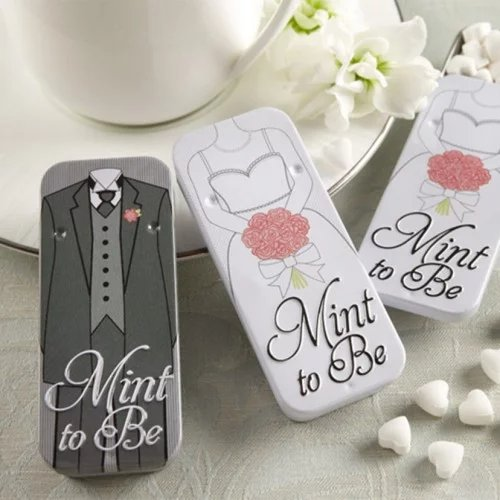 Mint to Be Bride and Groom Mint Tin Wedding Favours