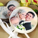 Personalized Milk Chocolate Lollipops Wedding Favours