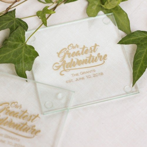 Personalized Coaster Wedding Favours