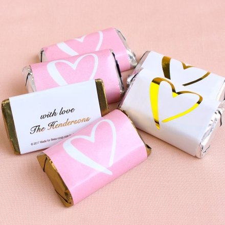 Personalized Hershey's Miniature Wedding Favours