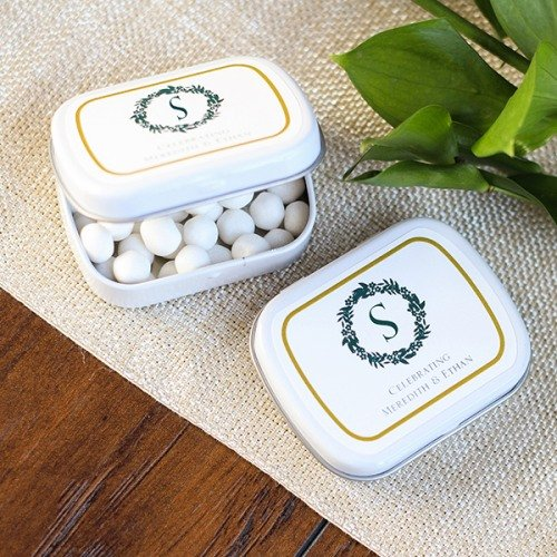 Personalized Mint Tin Wedding Favours