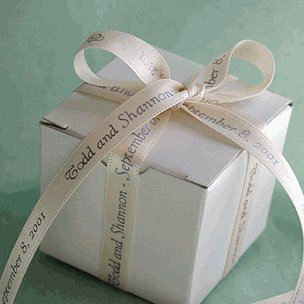Wedding Favour Personalized Double Faced Satin Ribbon