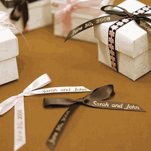 Wedding Favour Personalized Ribbon for Bows