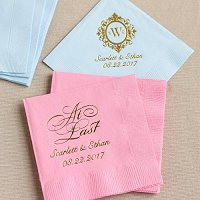 Wedding Reception Personalized Exclusive Wedding Napkins