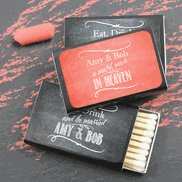 Wedding Reception Personalized Matchbooks