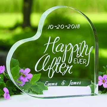 Wedding Reception Happily Ever After Cake Topper