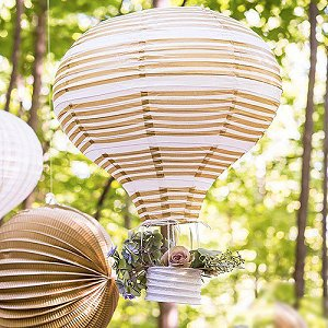 Wedding Reception Hot Air Balloon Paper Lanterns