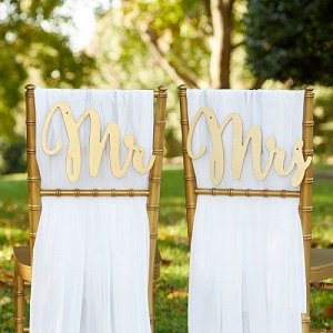 Wedding Reception Mr. and Mrs. Chair Sign