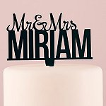 Wedding Reception Personalized Mr and Mrs Cake Topper