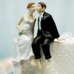 Wedding Reception Dancing Couple Cake Topper
