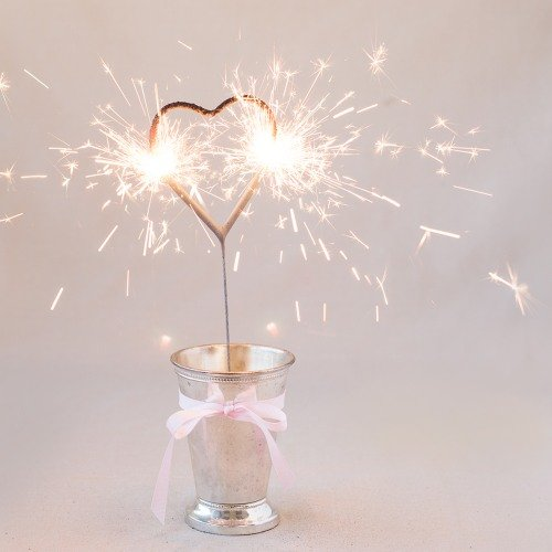 Wedding Reception Heart Shaped Wedding Sparklers