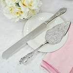 Wedding Cake Venice Silver Serving Set